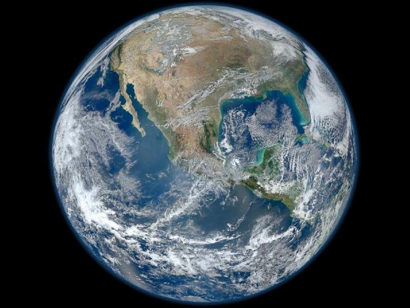 Ameryka Północna, zdjęcie Blue Marble / NASA