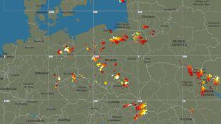 Wyładowania w wielu regionach. Sprawdź, gdzie jest burza