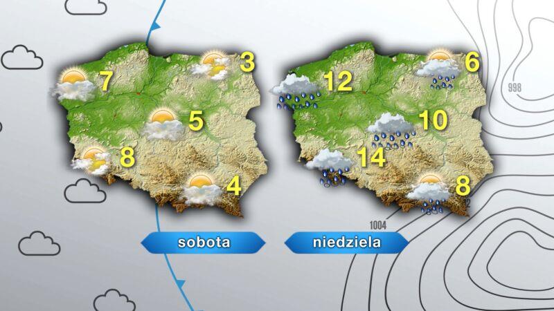 Pogoda na sobotę i niedzielę